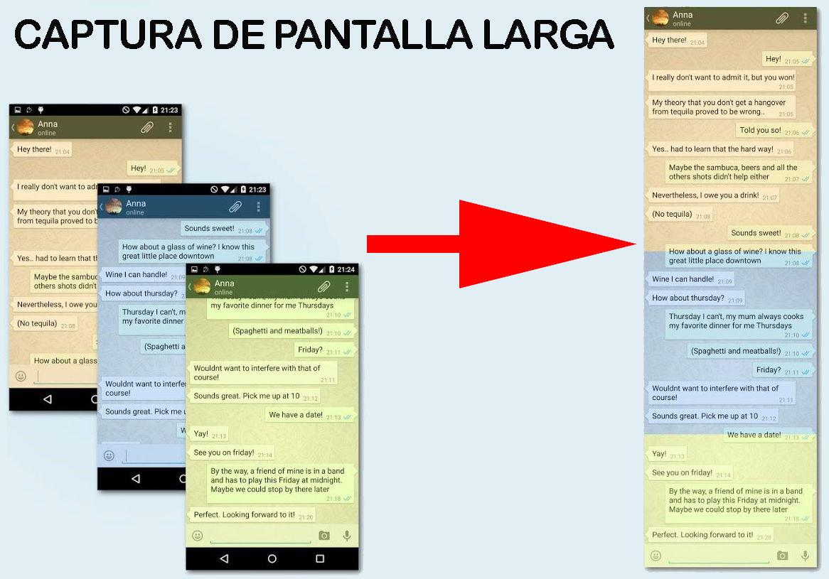 Como hacer capturas de pantalla largas en el teléfono móvil